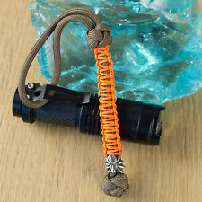 Cool Paracord Key Lanyard with SPIDER Bead Custom Keychain EDC Knife Accessories