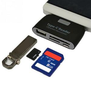 Type C USB-C OTG TF SD Card Reader For Macbook Samsung Galaxy S20 S10 LG Phone