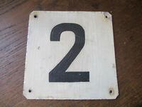 Türschild Hausnummer Nummer Wohnung Strassenschild 13x13 Nummer 2 Zwei