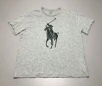 Men's Polo Ralph Lauren Huge Pony Gray Short Sleeve Classic Fit T-Shirt Size L