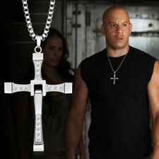 Fashion Pendant Necklace Vin Diesel cross Men's Jewelry Crystal Chain Alloy Zinc