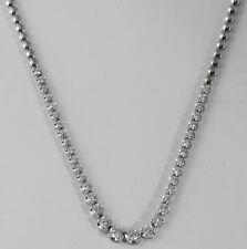 "1.50 Ct Round Graduated Half Way Diamond Tennis Necklace 18k White Gold 16.5"""