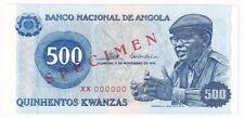 Angola 500 Kwanzas 1976 Specimen P# 112s UNC (30571)