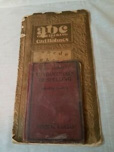 Vintage Horn-Ashbaugh Fundamentals of Spelling & ABC of Lettering by Carl Holmes
