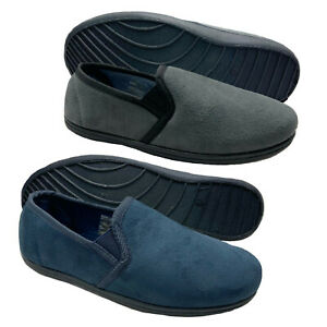 Mens Wide Fit Fitting Twin Gusset Diabetic Orthopaedic House Hard Sole Slippers