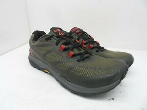 Topo Athletic Men's Terraventure 2 Athletic Running Sneakers Olive/Red Size 9M