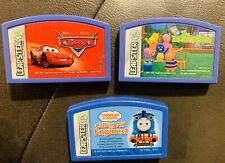 LOT OF 3  Leapfrog Leapster Explorer Games THOMAS,Disney CARS ,The BACKYARDIGANS