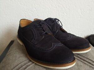Gant Business Schuhe Budapester Style Gr. 45 Leder marine blau