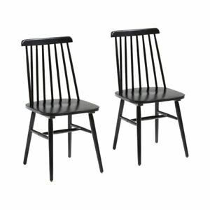 Kiley Rubber Solid Wood Dining Chair - Black
