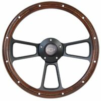 Mahogany Steering Wheel 1960 -1969 Chevy C Series Truck Chevy Horn +Adapter Kit
