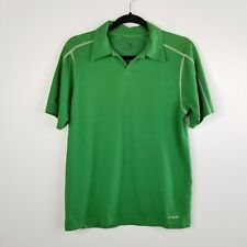 Patagonia Mens Stretch Polo Shirt M Green