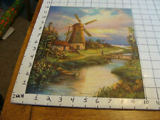 Vintage very clean and brigt print c. FAS: c. 1930's MILL AT THE STREAM nice