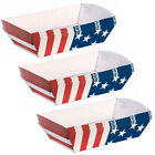 Patriotic 4th Of July Party Supplies Paper Trays (6 Count)