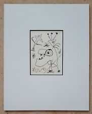 Joan MIRO (1893-1983) Original Radierung Paris Dupin # 105 - DIE FEDERKRONE 1956