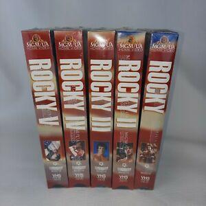 Vintage 1980's NIP Sealed Rocky I II III IV V VHS Tapes Sylvester Stallone
