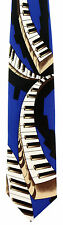 Floating Piano Keyboards Mens Necktie Musical Keys Musician Gift Blue Tie New