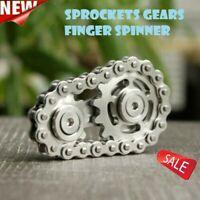 Sprockets Gears Finger Spinner Fingertip Gearwheel Gyro Xmas Toy Gifts S0I5