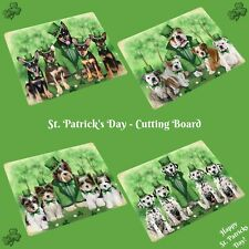 St. Patrick's Day Cutting Board, Dogs, Cats, Pet Kitchen Vegetable Cutter