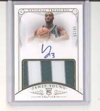 James Young auto jersey card /25 2014-15 National Treasures gold RC NM Celtics