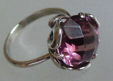Silver Plated Amethyst Round Costume Rings