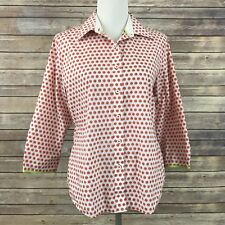Foxcroft Women's Sz 10 Shirt Blouse Top Wrinkle Free Shaped Fit Orange Slices 1D
