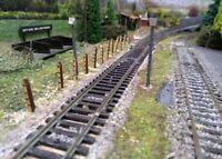 100 x Model Railway Laser Cut 4ft Fencing Kit OO 1:76 Scale Ply Wood Miniature