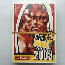 Konami Hero 2003 Juego De Cartas-edición limitada especial-Metal Gear Solid Etc
