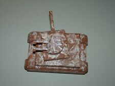 Vtg Maine State Prison Art Sculpture Wood Camouflage Camo US Military Tank Rare