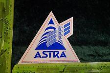 Alter Aufkleber TV Radio Sender Sat ASTRA Der Fernsehsatellit