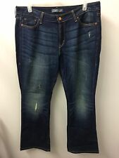 Levis 553 Boot Cut 16 Distressed Jeans Euc Lkn Worn Twice ! EXCELLENT