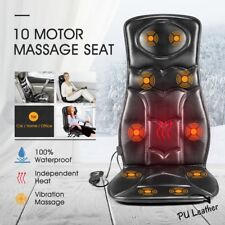 10 Motor Vibration Massage Chair Pad Seat Cushion w/ Heat for Home Office Car