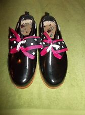 Women's Midwest Black With Bow Garden Clogs US Size 8