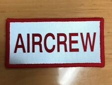 Red/Silver Aircrew Reflective Patch Small