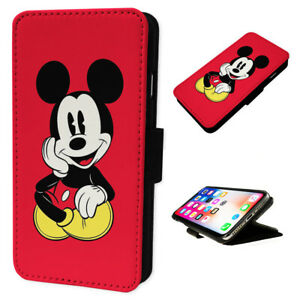 Mickey Mouse Red - Flip Phone Case Wallet Cover - Fits Iphone & Samsung