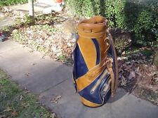 """Tufhorse by PGA Vinyl and Leather 9"""" Staff Golf Bag"""