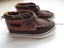 df820214cbe9 Gymboree Monstro-Politan Brown Canvas Boat Shoes Boys 9 NEW NWT