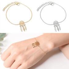 Fashion Women Feather Tassel Necklace Dream Catcher Chain Link Bracelet Jewelry