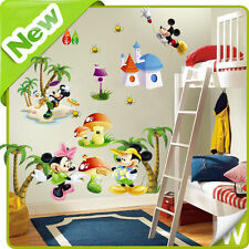 Mickey & Minnie Mouse Autocollant Mural Animal Arbre Crèche D'enfants Chambre