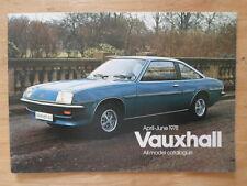 VAUXHALL RANGE 1978 UK Mkt Prestige Brochure - Chevette VX Series Cavalier Viva