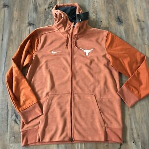 NWT Men's Nike Dri-Fit Full Zip Sweatshirt - Exclusive, Texas Longhorns, Size XL