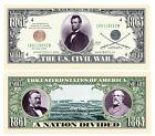 US Civil War Novelty Money Bill - Pack of 100 Bills - Best Gift for Civil War... for sale