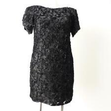 JIGSAW - NEW - Short Sleeve Black  Shift Dress Size 12 - Small 16 or US 8 - 12