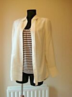 JIGSAW IVORY SILK PLEATED FRONT SHIRT AND STRIPED T SHIRT