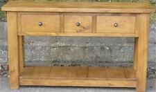 """any size made"" SOLID WOOD CHUNKY RUSTIC PLANK PINE CONSOLE TABLE SIDE shelf END"