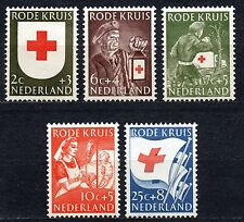 Netherlands - 1953 Red Cross Mi. 615-19 MH