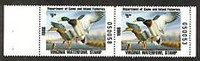 USA 1988 Ducks - Virginia -  Scott # VA1  MNH Pair