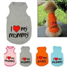 SALE small dogs pooches i love mommy i love daddy trendy vests Christmas gift