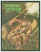 Vintage March 1946 Sports Afield Hunting & Fishing Magazine  Trout Photo Cover