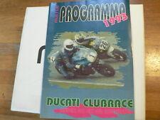 1993 DUCATI CLUBRACES ASSEN PROGRAMMA NEDERLAND SAM RACEN,DELLORTO,CLASSICS,MO