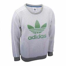 Sudadera para hombre Adidas Originals Lux Malla Jersey Jumper Blanco AJ7059